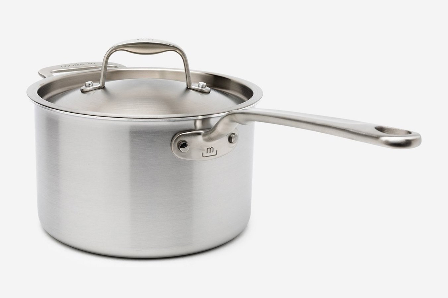 The Stainless Steel Saucepan from Made In Cookware, one of the best discounts during the brand's Industry Sale