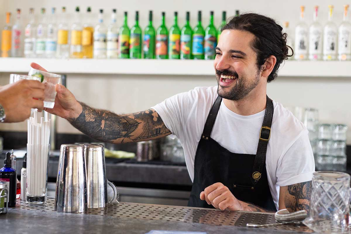 Maxwell Reis — the Beverage Director of Gracias Madre in West Hollywood