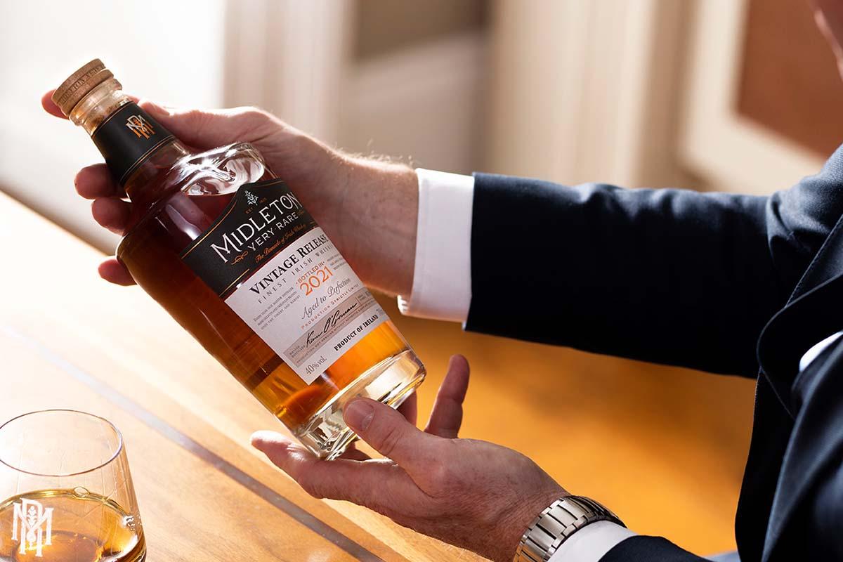 Midleton's Master Distiller Kevin O'Gorman and his new bottle of Midleton Very Rare 2021