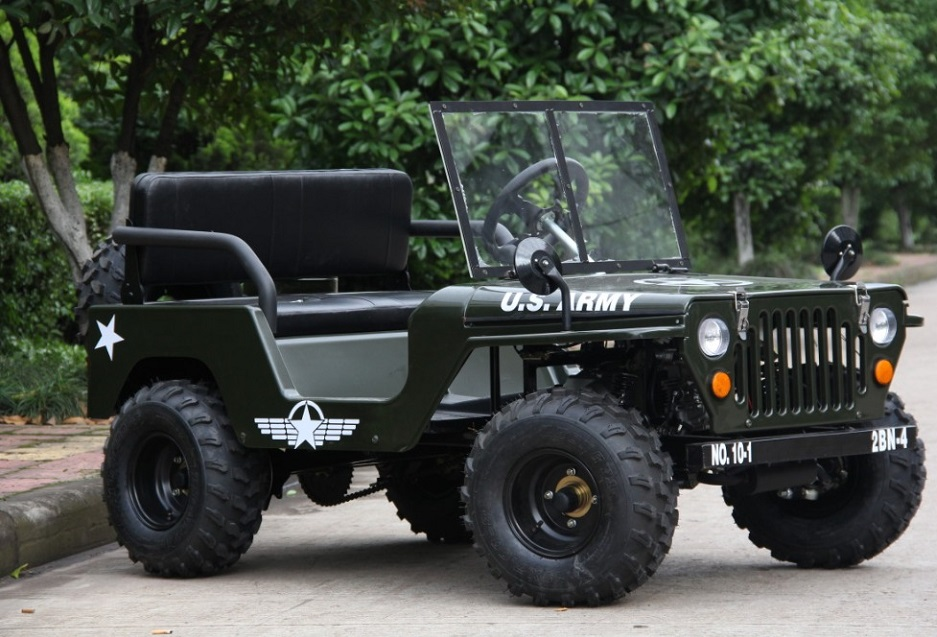 A very small jeep