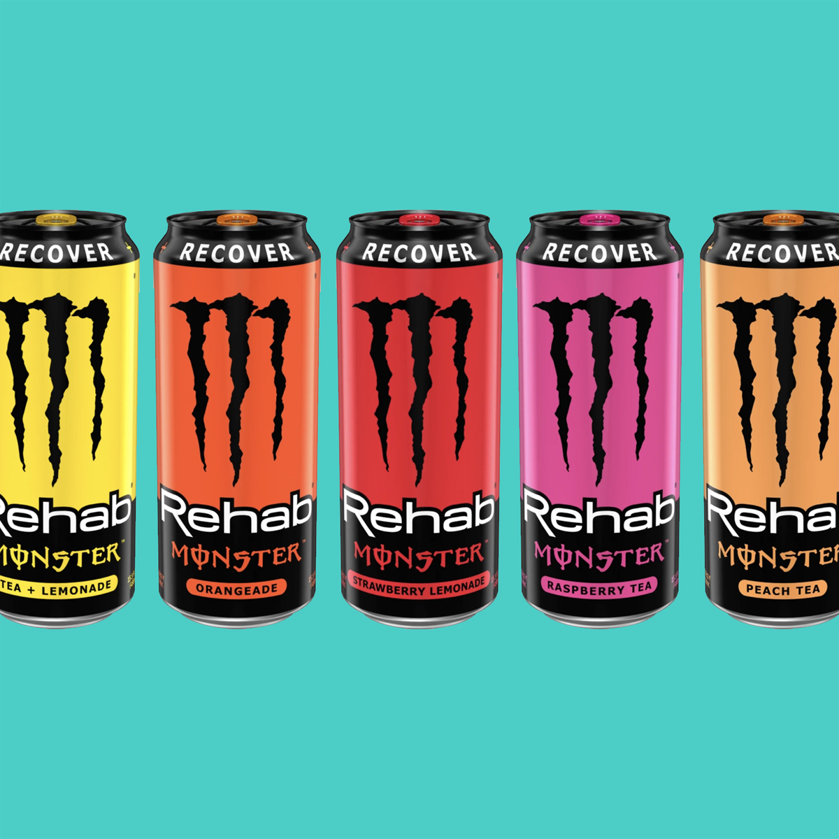 Monster Energy Rehab Monster in various flavors