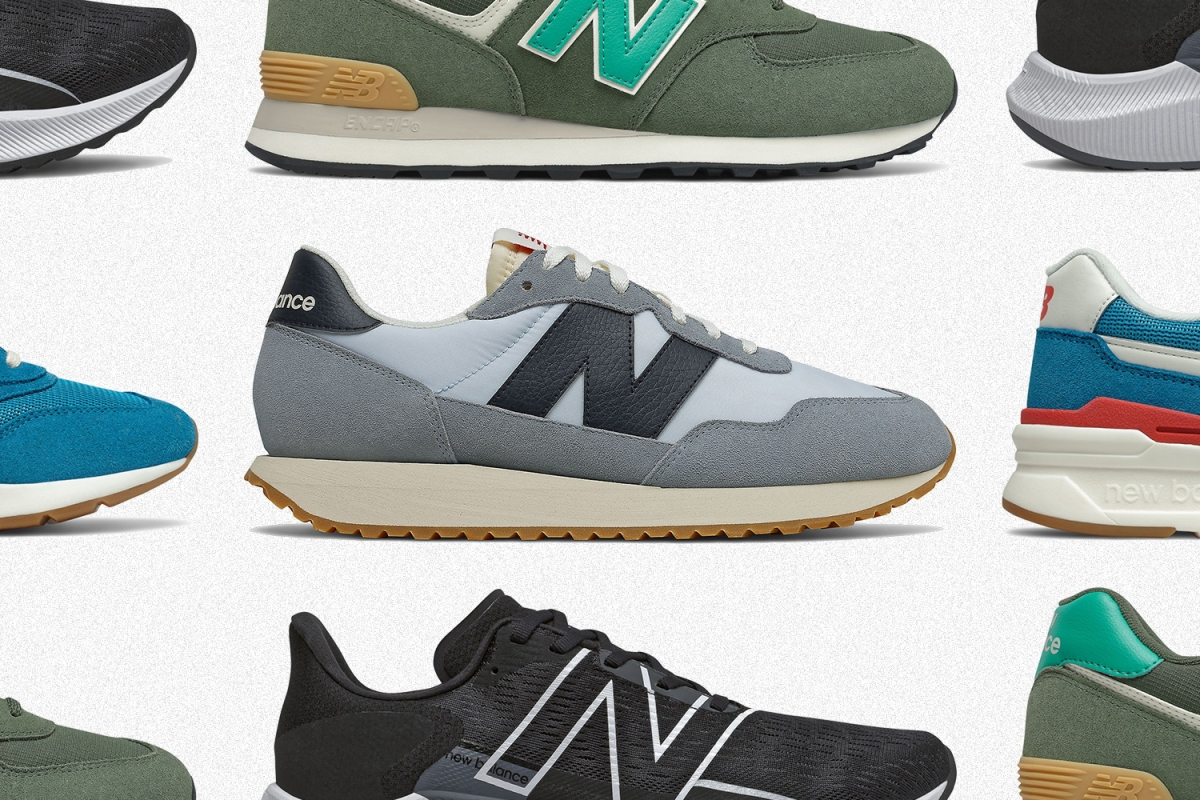 Men's New Balance sneakers including the 237, 574, 997H and FuelCell