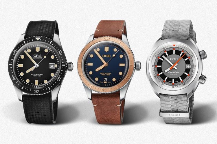 Three Oris watches on sale at Mr Porter