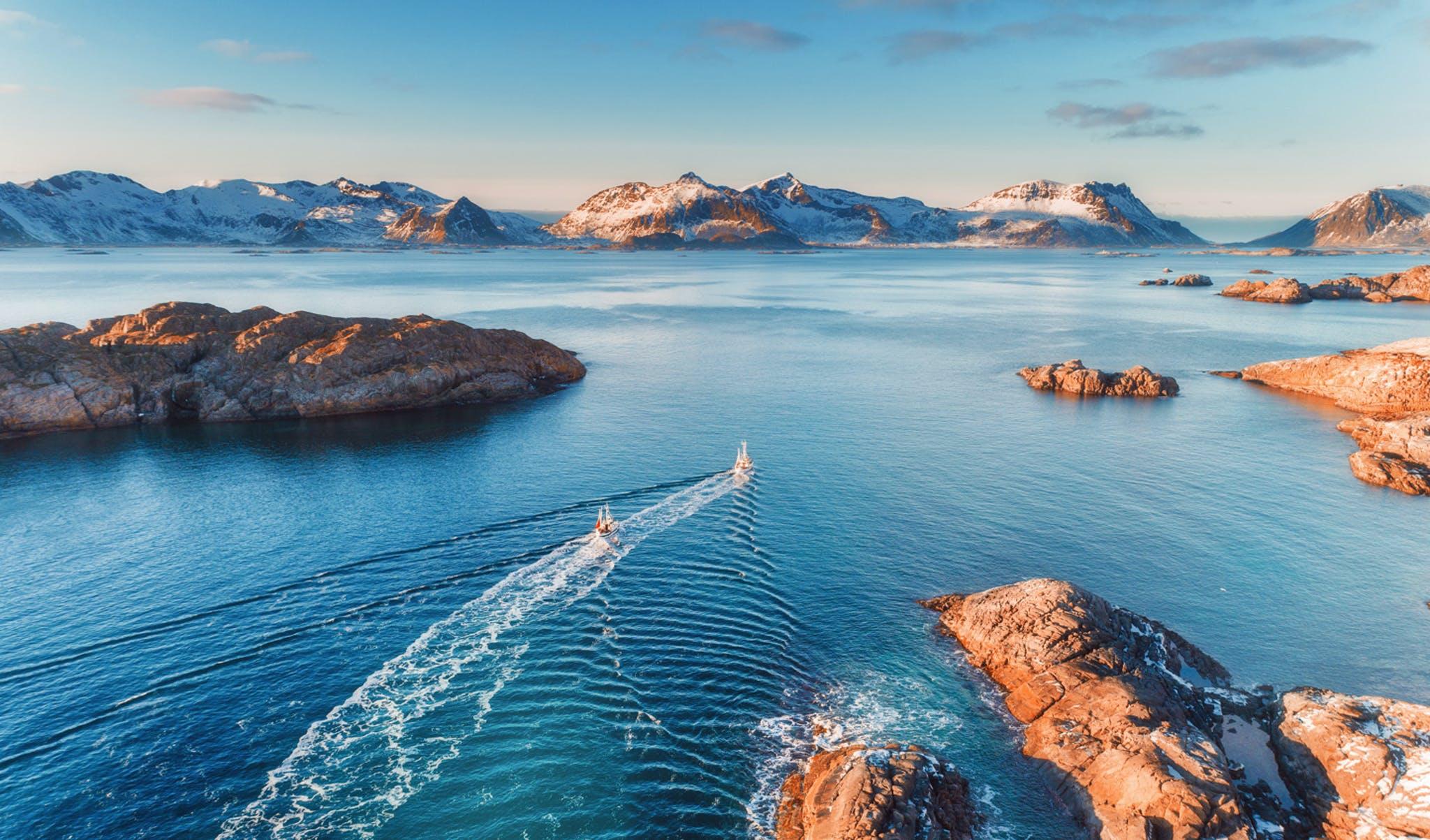 Sailing in the Lofoten Islands