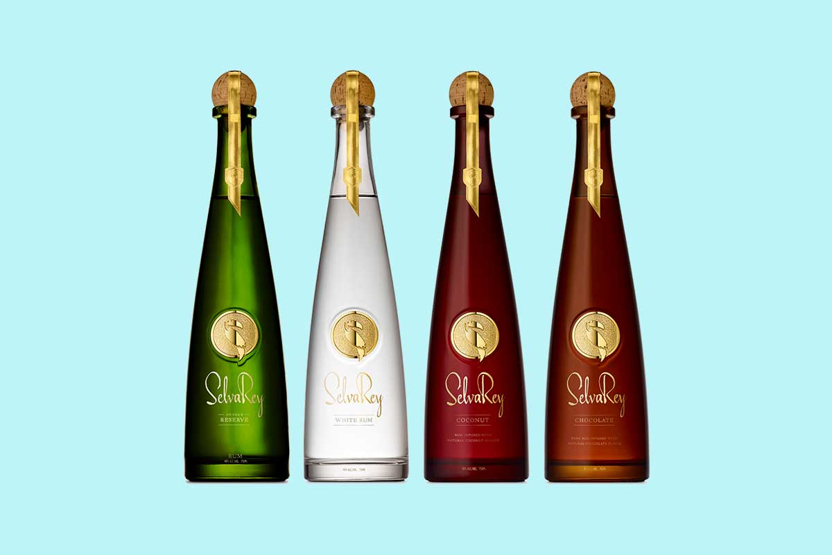 the four expressions of SelvaRey rum, co-owned by Bruno Mars