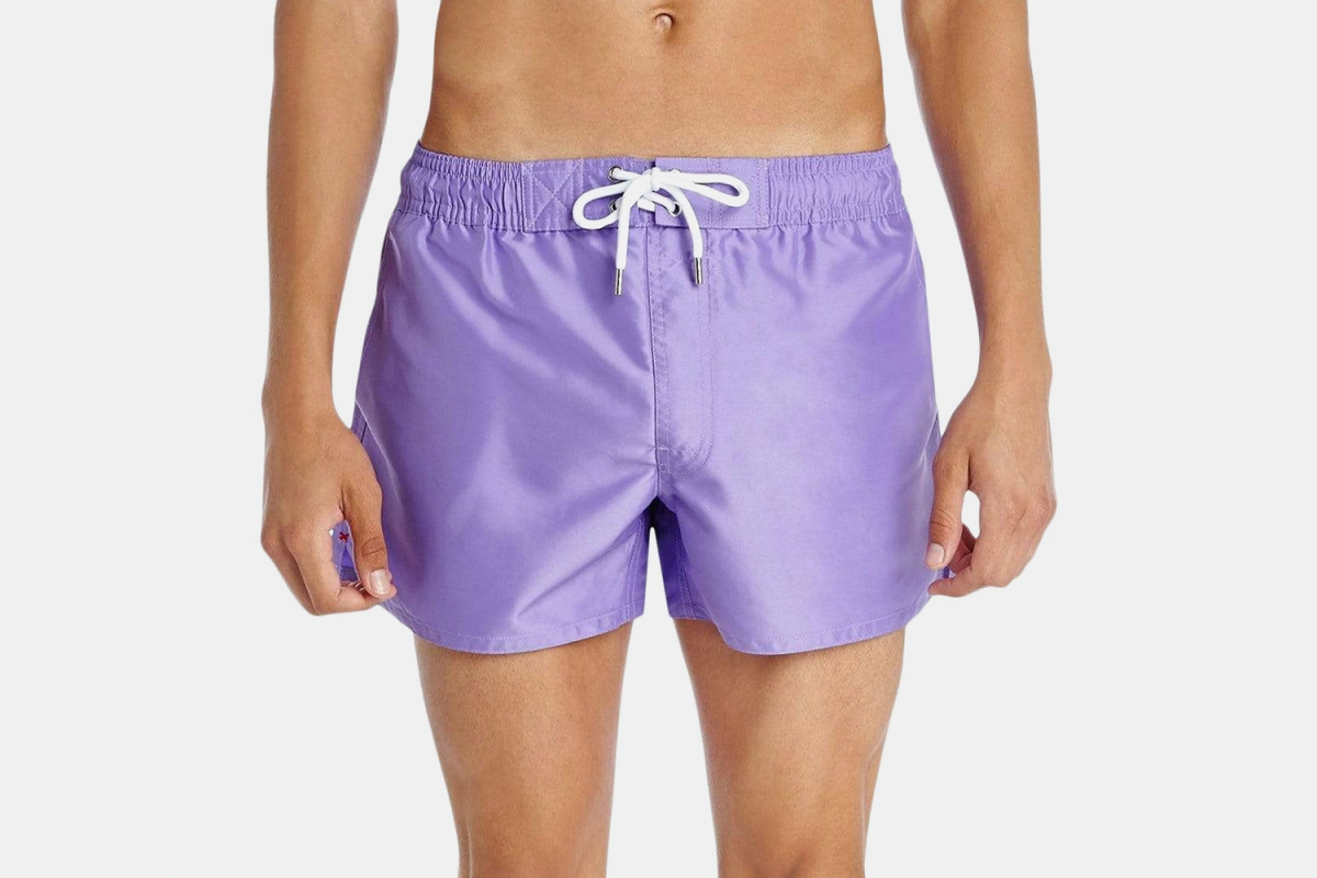 Deal: These Sexy Purple Swim Trunks Are 60% Off