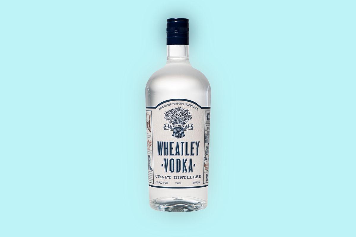A bottle of Wheatley Vodka, produced by Buffalo Trace