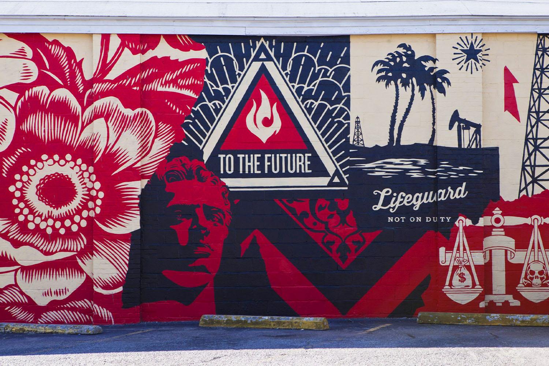 A Shepard Fairey mural in Charleston, South Carolina