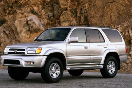 A third generation 1999 Toyota 4Runner is pictured in a desert outback environment