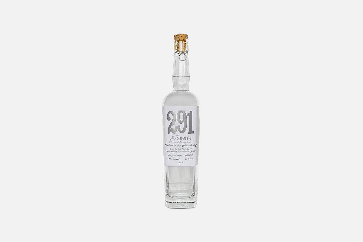 A bottle of 291 Fresh Colorado Whiskey