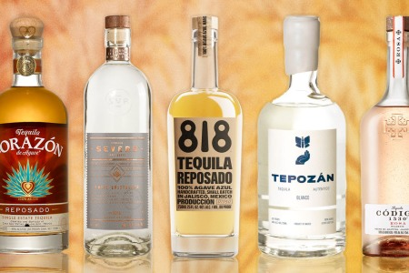 five bottles of tequila for National Tequila Day