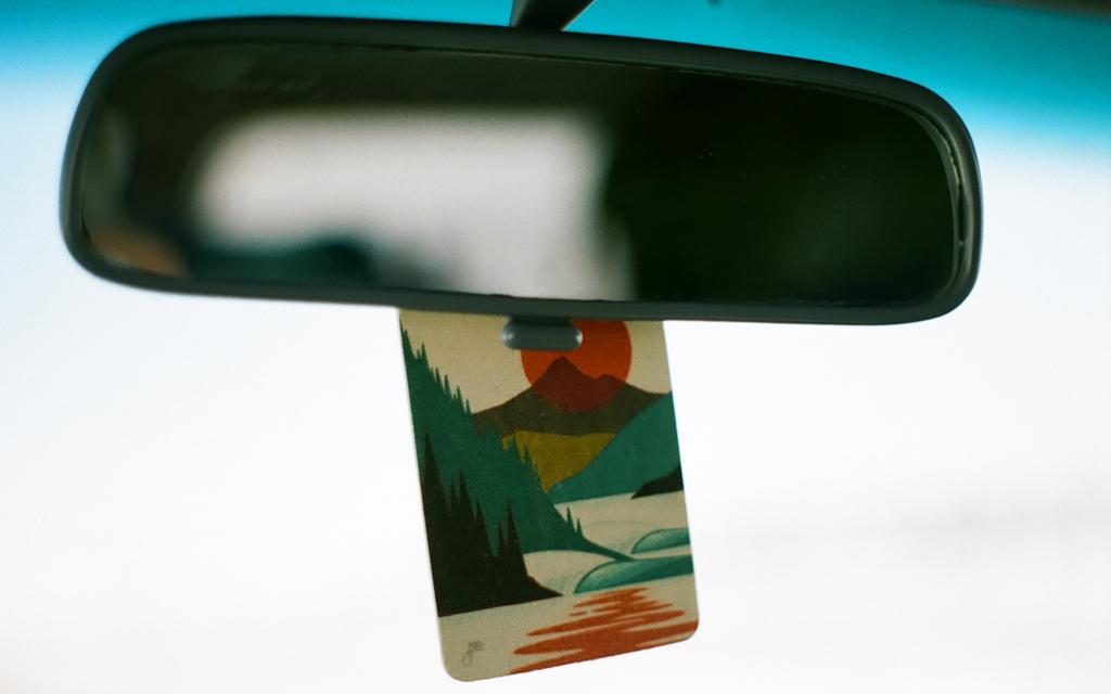A third generation 1999 Toyota 4Runner rearview mirror