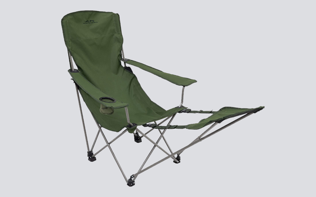 The ALPS Mountaineering Escape Camp Chair is the best camping chair with a footrest