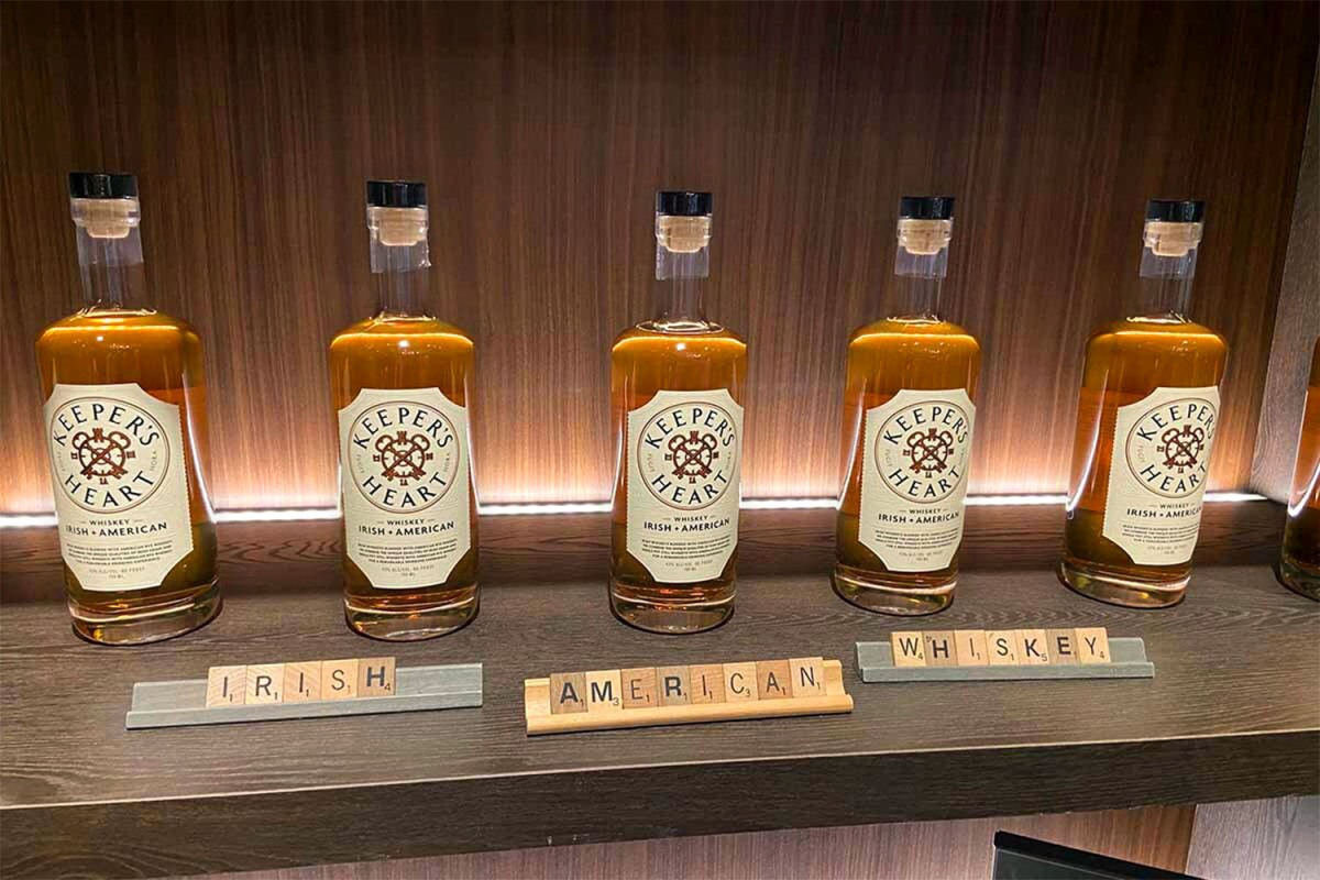 Bottles of Keeper's Heart, a blend of Irish and American whiskeys
