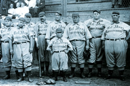 Members of the Fat Man's Baseball Association, circa 1910