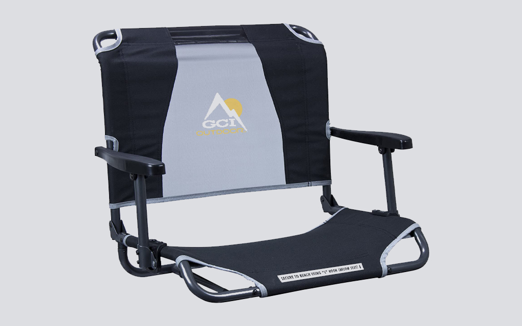GCI Stadium Chair is the best camping chair for campgrounds and sporting events