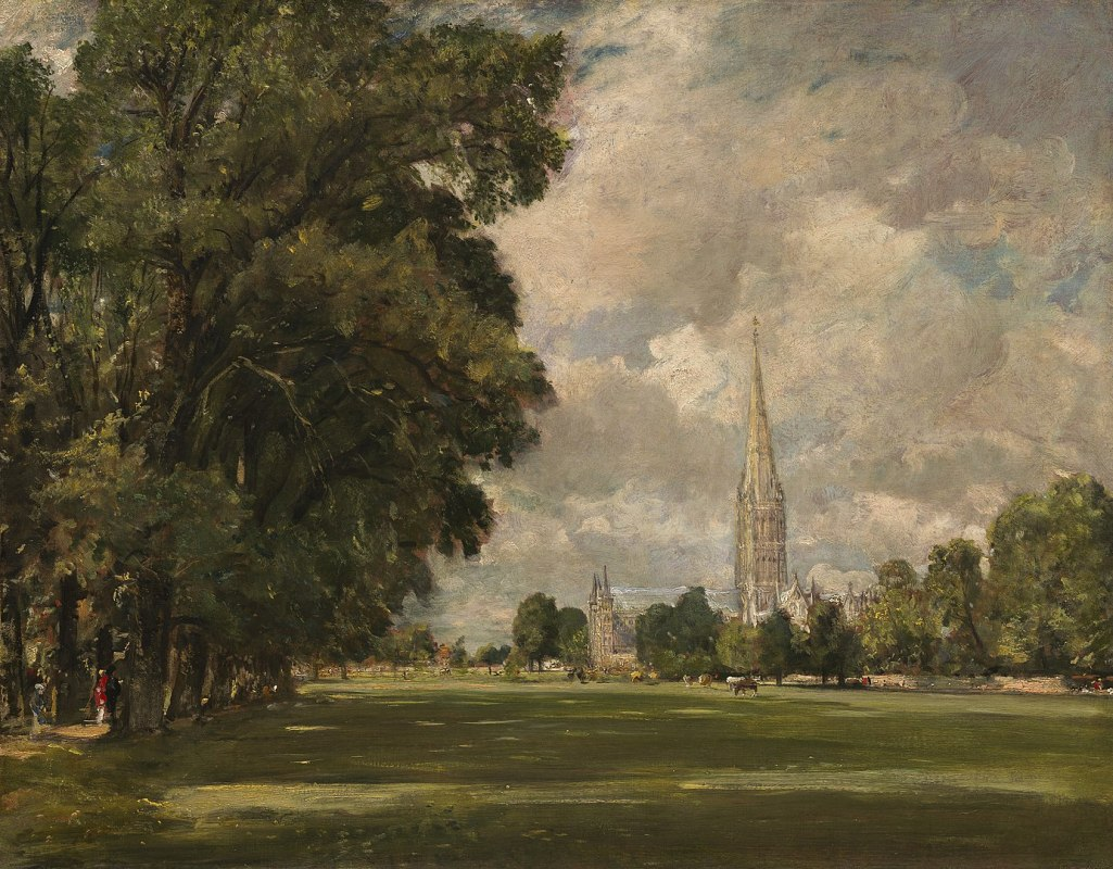 John Constable, Salisbury Cathedral from Lower Marsh Close