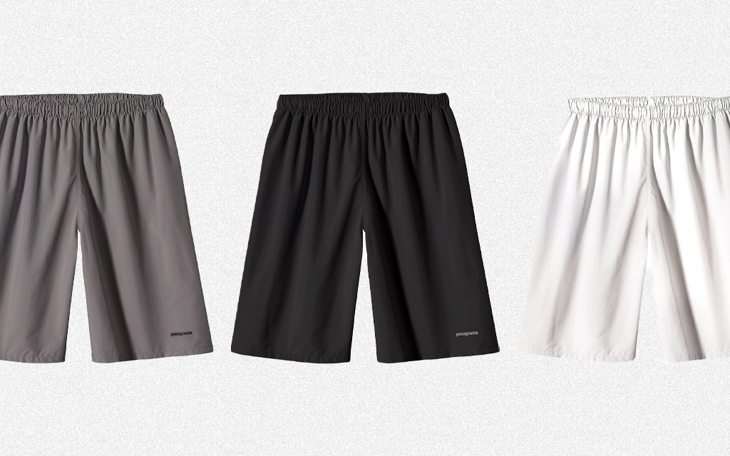 Patagonia Field Shorts in black, grey and white, which were originally designed for Ultimate Frisbee, are on sale