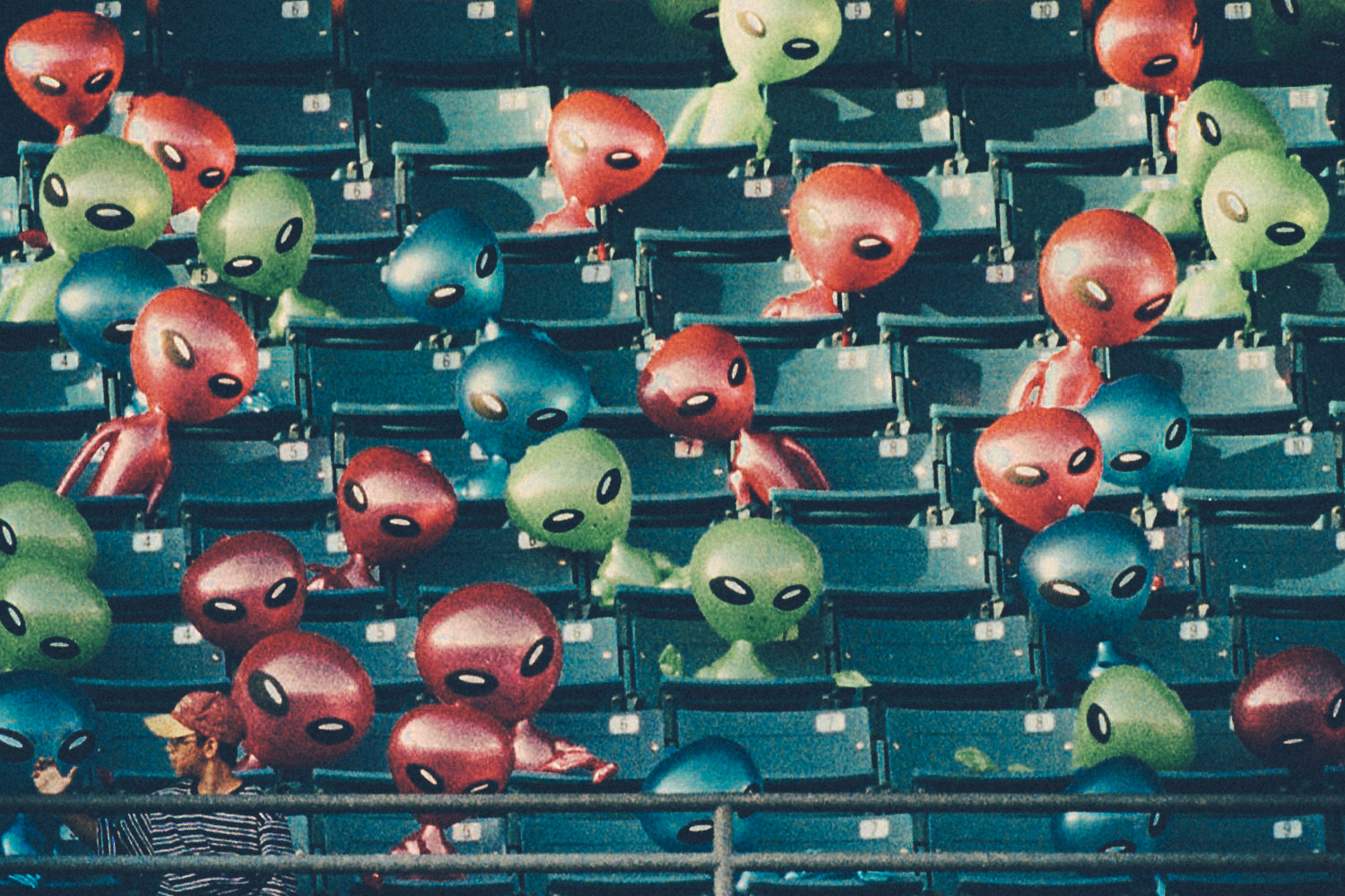 Aliens in the stands at LoanDepot Park