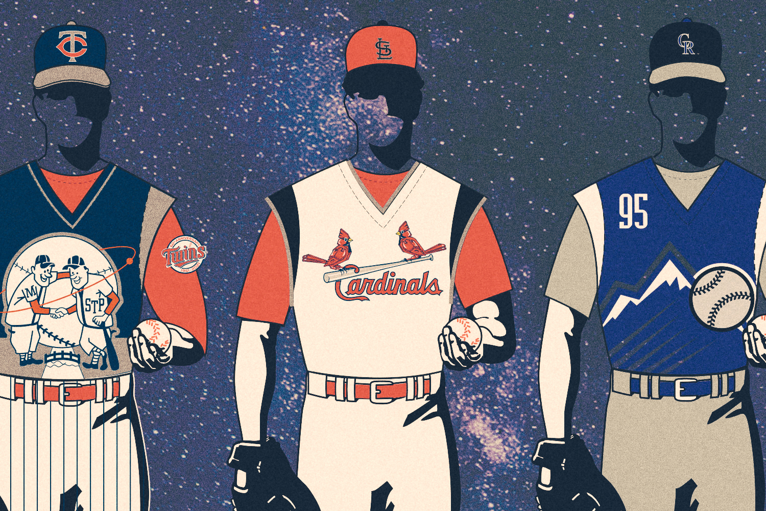"""The official style guide uniform graphics for MLB's now-infamous """"Turn Ahead the Clock"""" promotion"""