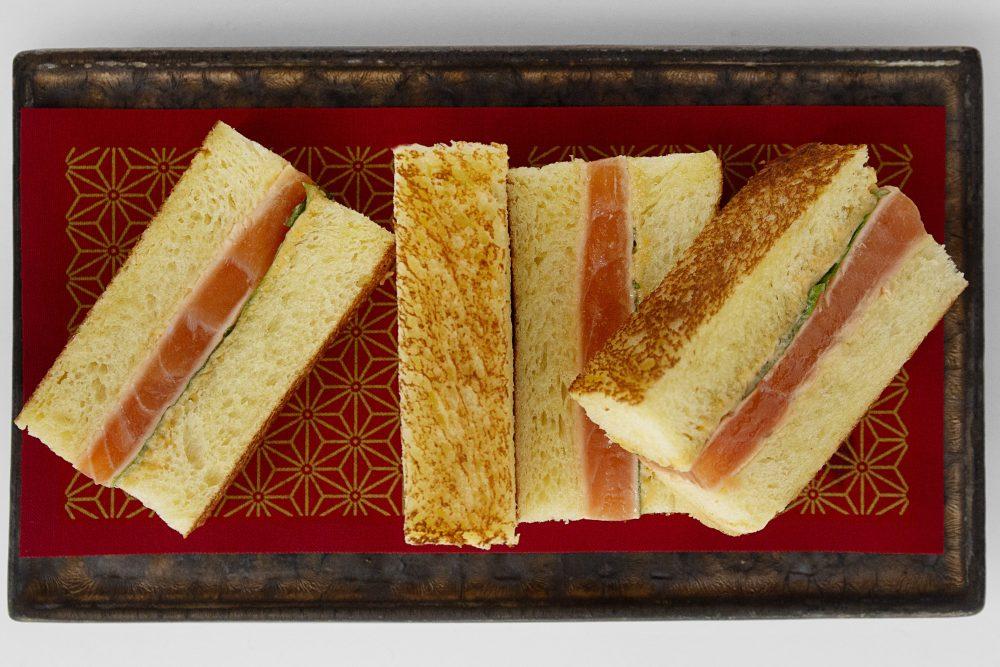 Chef Shaun Hergatt's salmon sandwich