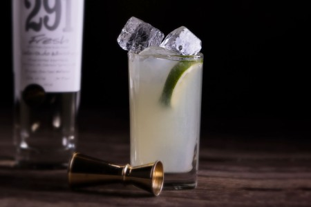 A close-up of the Whiskarita, only the fifth cocktail to grab a trademark,