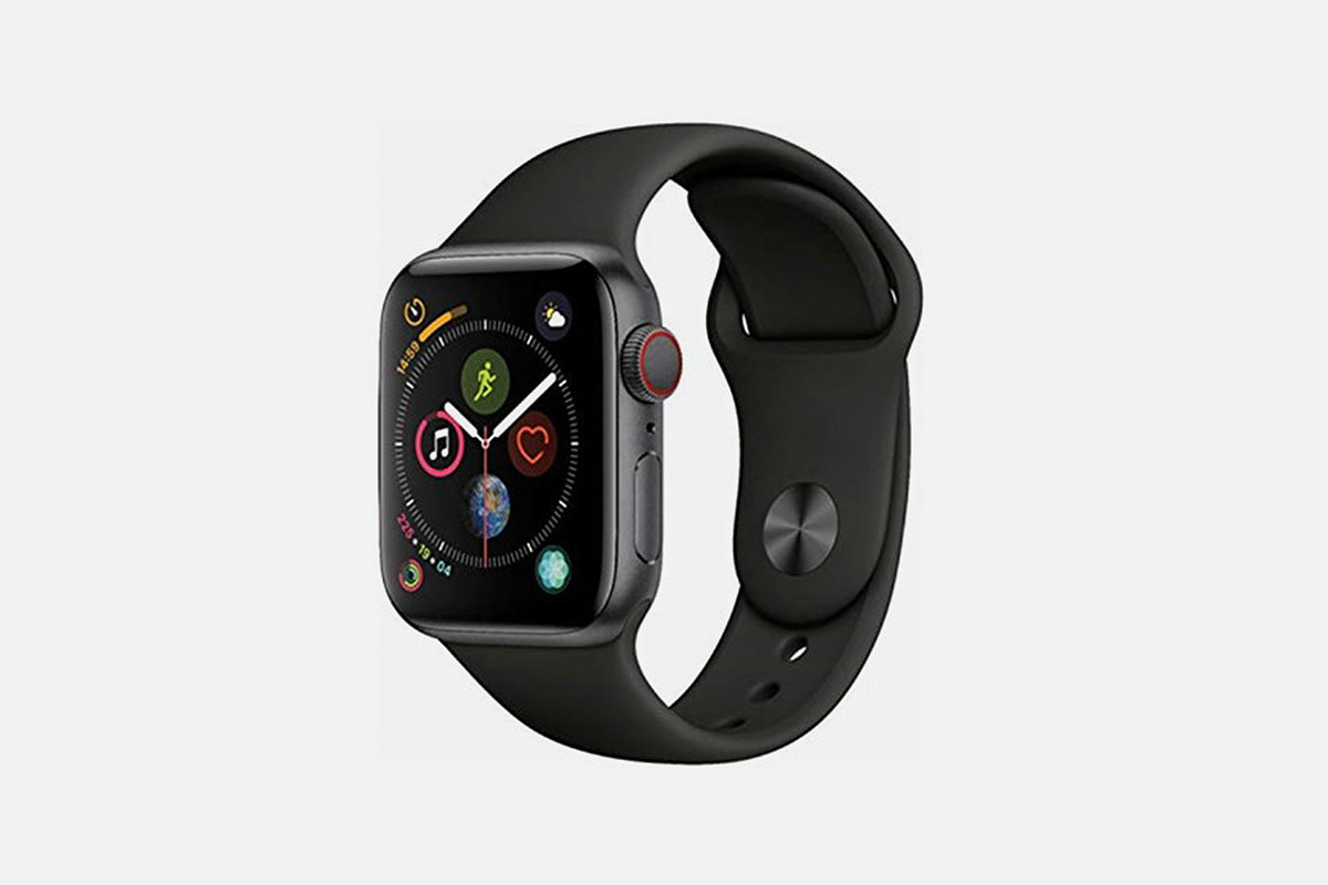 A black Apple Watch Series 4, now on sale at Woot