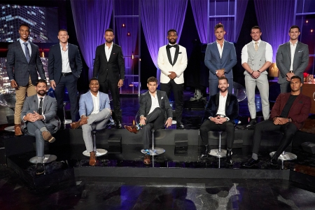"""All the male contestants on the """"Men Tell All"""" episode of """"The Bachelorette"""" on ABC with Katie Thurston"""