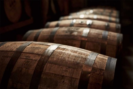 A stock photo of bourbon barrels from Kentucky. Rare bourbon prices have skyrocketed in the last year.