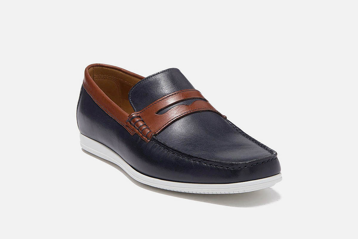 Barca Leather Penny Loafer BRUNO MAGLI, now on sale at Nordstrom Rack
