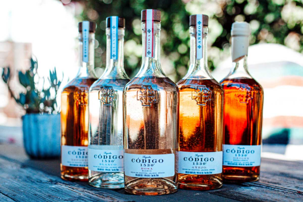 The five expressions of Codigo 1530 tequila
