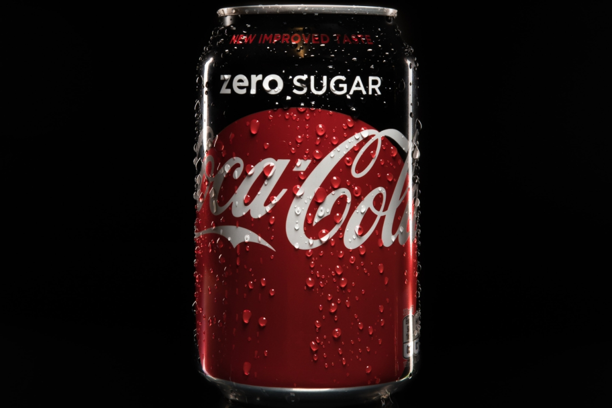 A can of coke zero on black background. We hope the new recipe is as bad as people fear.