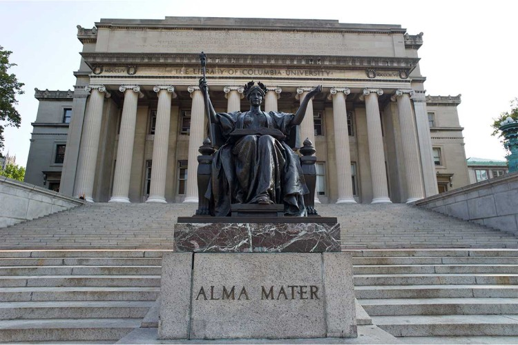 Statue of Alma Mater at Columbia University, New York. Graduate film students there are facing student loan debts that far outweigh their initial post-graduate earnings.