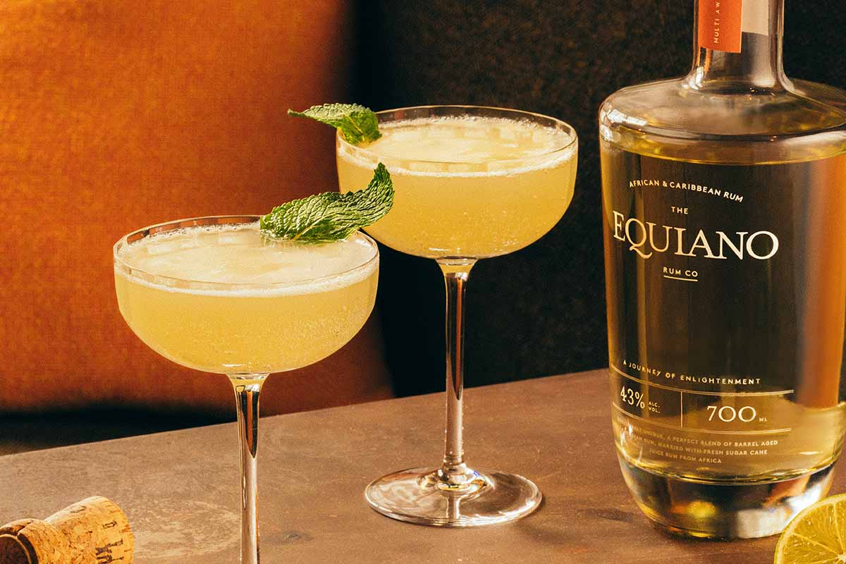 Two daiquiris made from Equiano Light