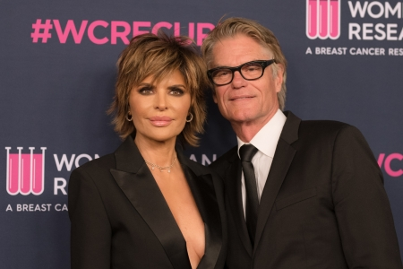 Lisa Rinna and Harry Hamlin arrive at the Women's Cancer Research Fund's 'An Unforgettable Evening' at the Beverly Wilshire, A Four Seasons Hotel on February 27, 2020 in Beverly Hills, California