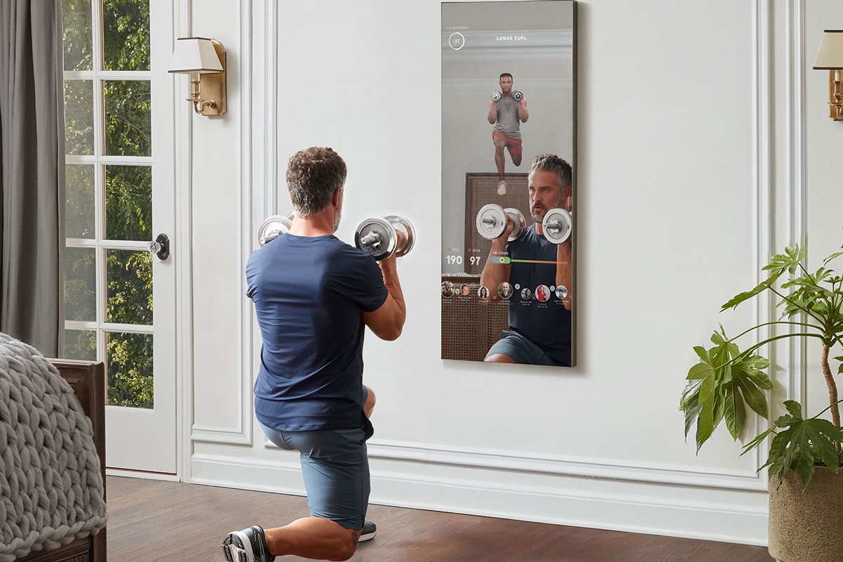 mirror fitness display
