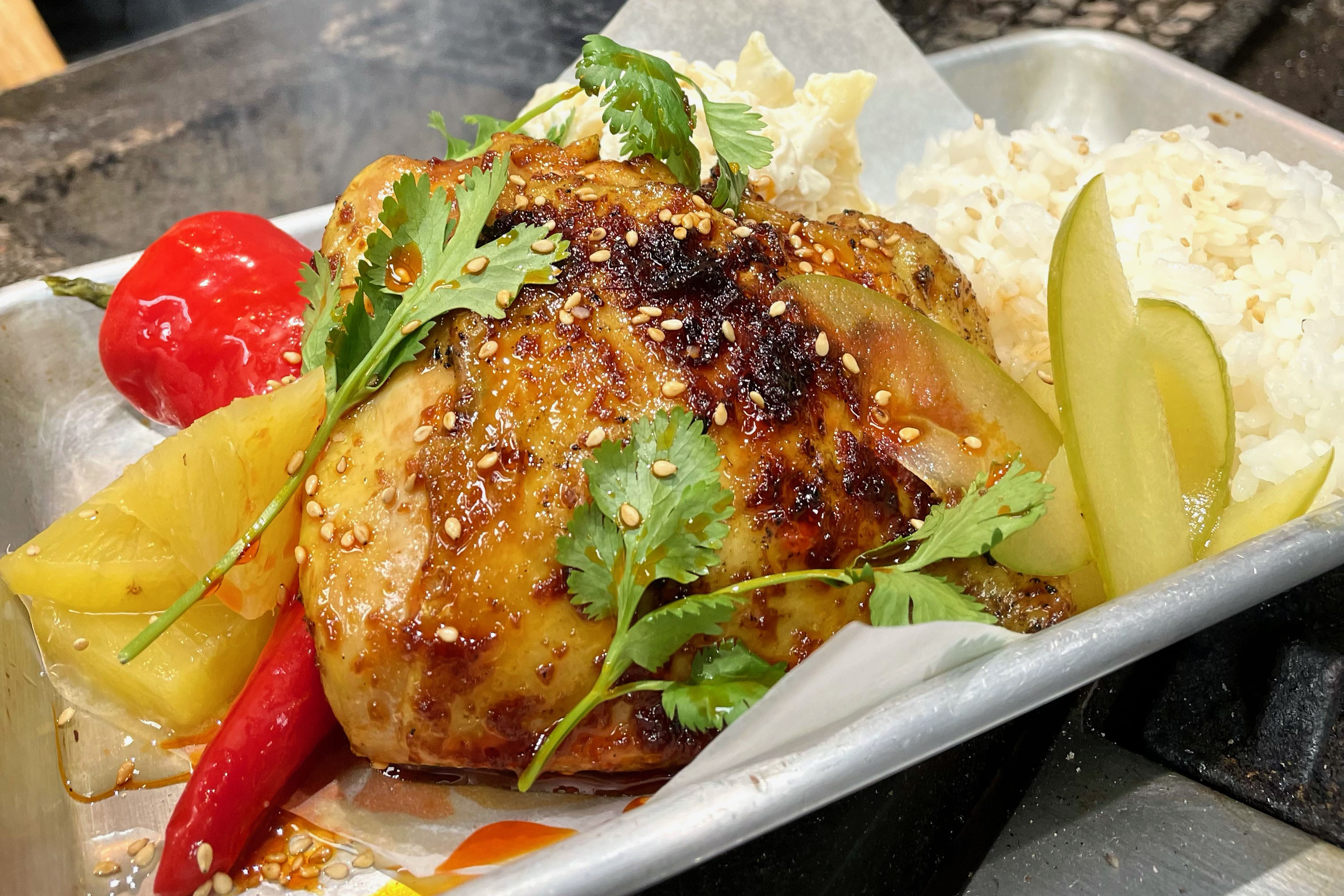 Salty Cargo's huli huli chicken