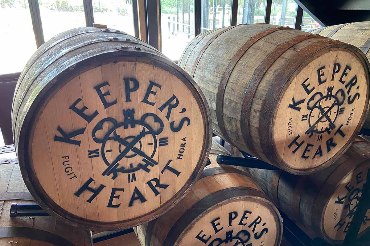 Keeper's Heart whiskey barrels