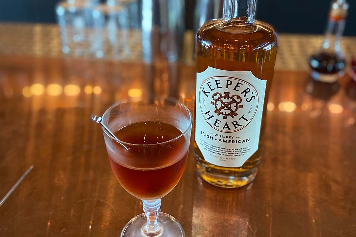 A cocktail made from Keeper's Heart whiskey