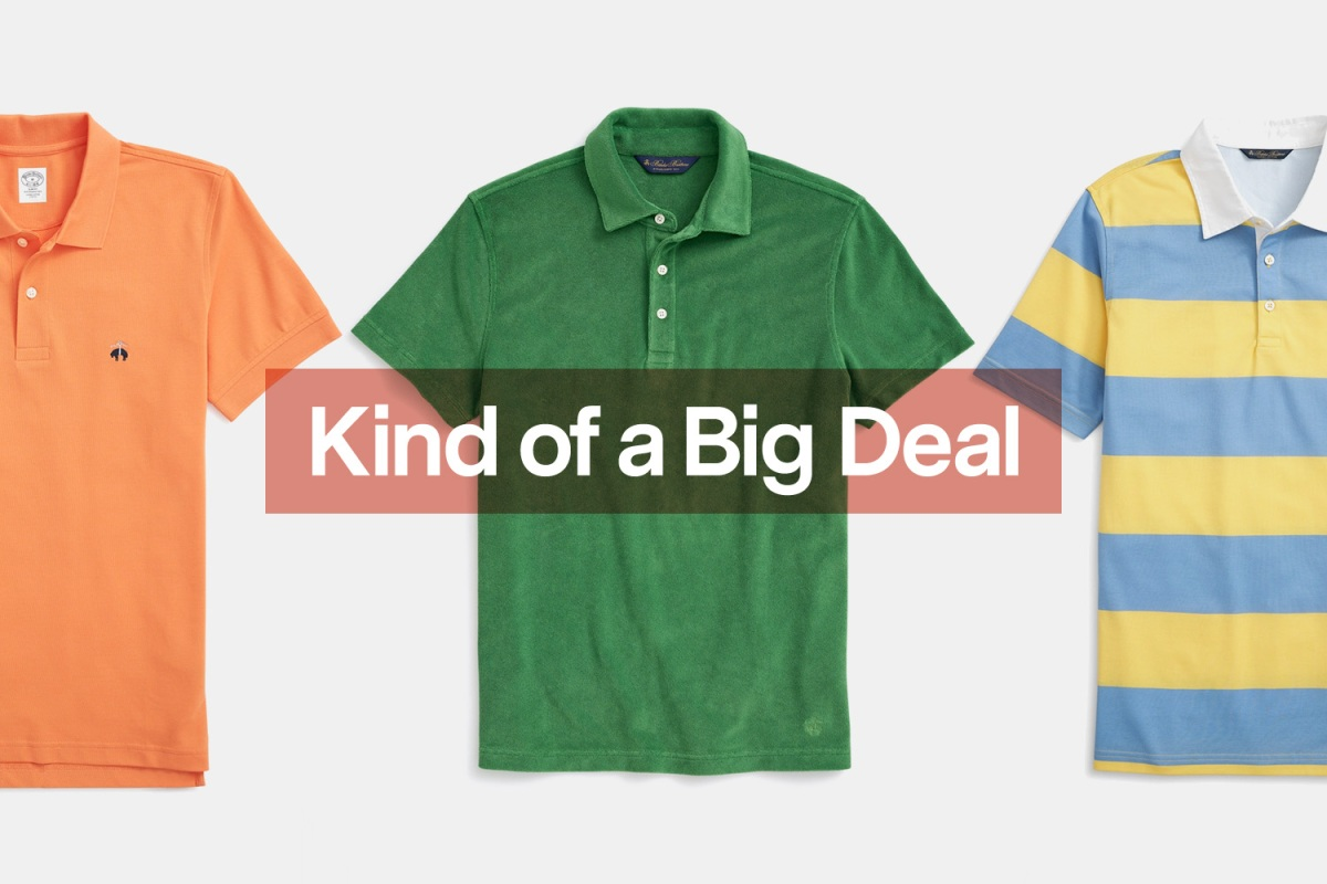 Brooks Brothers Polo, Terry Polo, Striped Rugby Polo