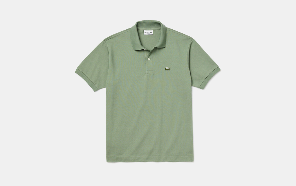 Lacoste Classic Fit Polo in Olive Green
