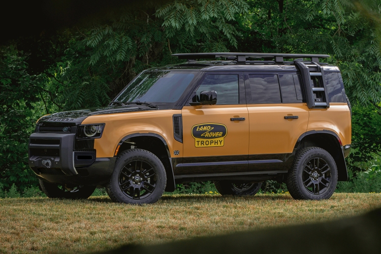 The new 2022 Land Rover Defender Trophy Edition, a limited-edition SUV that comes with entry into the off-road Trophy Competition