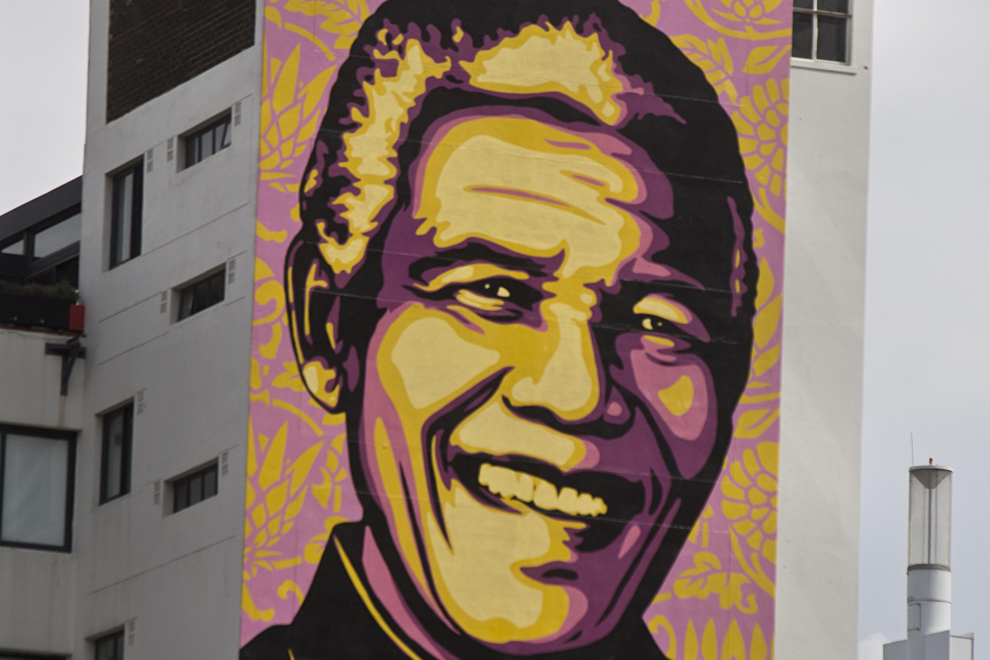 Shepard Fairey's Mural of Nelson Mandela in Johannesburg, South Africa