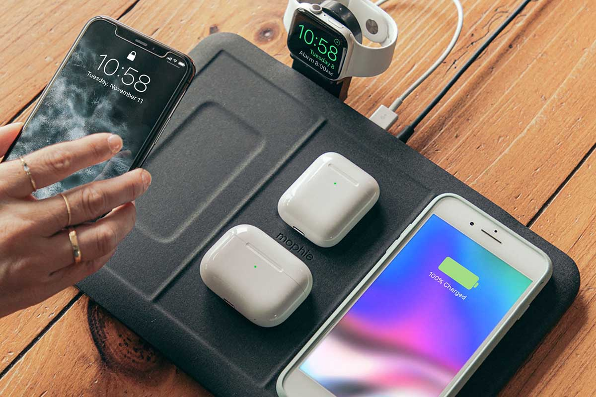 The 4-in-1 wireless charging mat, which charges four wireless devices and one USB device at once, now on sale at Zagg