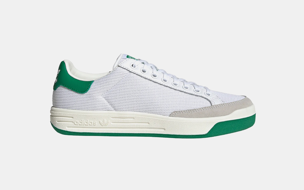 Adidas Rod Laver Vintage Sneaker in Green and White
