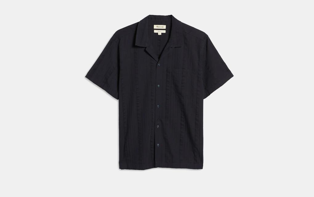Madewell Easy Textured Stripe Camp Shirt