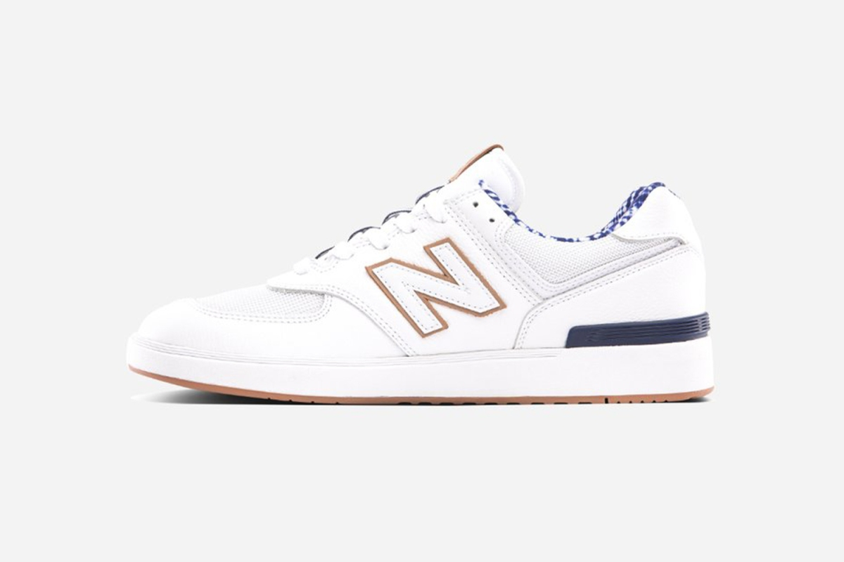The new sneaker from New Balance and Slowtide. The beachy collaboration extends to slides and towels too.