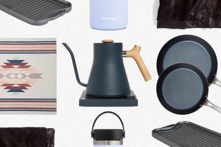 A Pendleton quilt, Fellow Stagg electric kettle, carbon steel pans from Viking and other home and kitchen items that are discounted during the Nordstrom Anniversary Sale of 2021