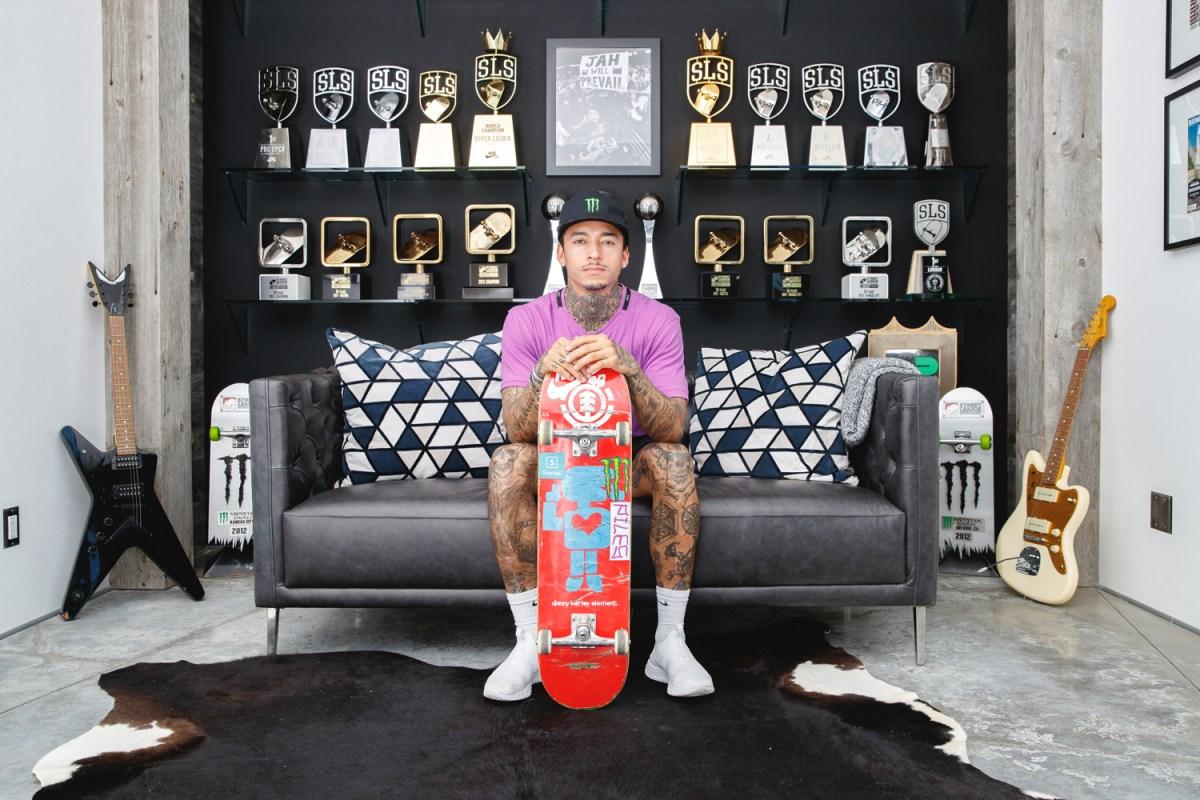 US Olympic skateboarder Nyjah Huston