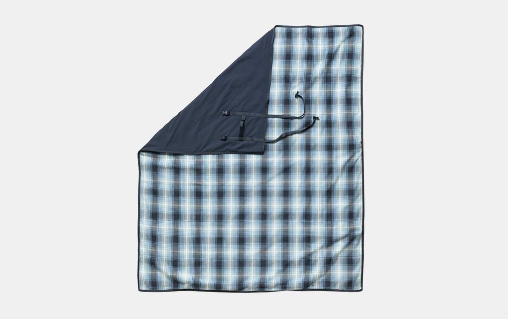 Outerknown Blanket Shirt Blanket in Blue Plaid